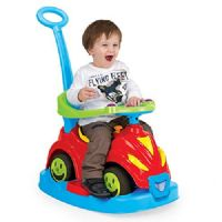 Dolu Indoor Outdoor Rocking Riding Walking Driving 4-in-1 Smile Car